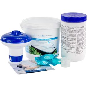 vedenhoitoainepaketti vastavirta-altaille purettuna