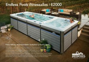 Endless Pools fitnessaltaan E2000 esitteen kansikuva