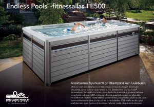 Endless Pools fitnessallas e500 esitteen kansikuva
