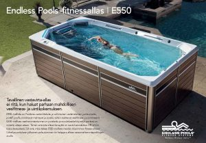 Endless Pools fitnessaltaan e550 esitteen kansikuva