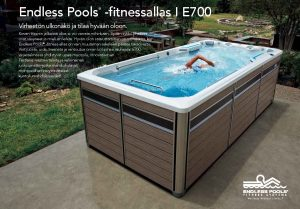 Endless Pools fitnessaltaan e700 esitteen kansikuva